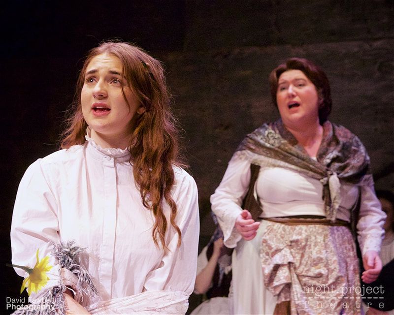Sally Jolliffe, Jessie-Mae Thomas, Night Project Theatre, David Fawbert Photography, Tess The Musical